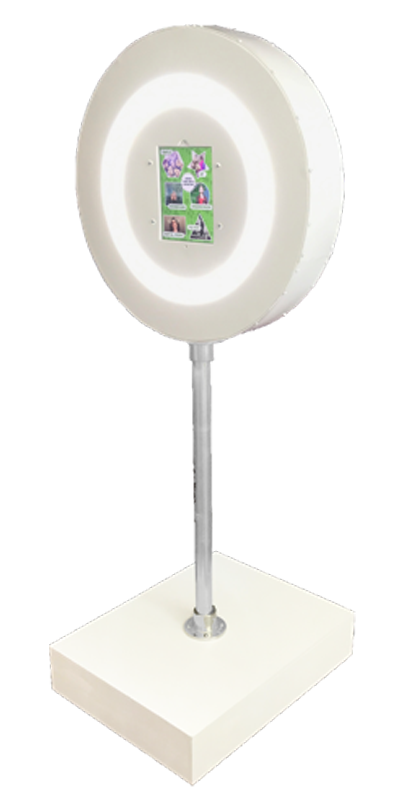 gif/selfie booth machine included in gif booth rental cost in Memphis TN