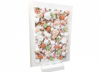 silk flower wall backdrop