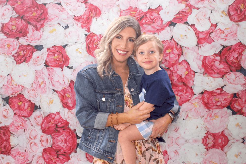 cloth flower wall backdrop