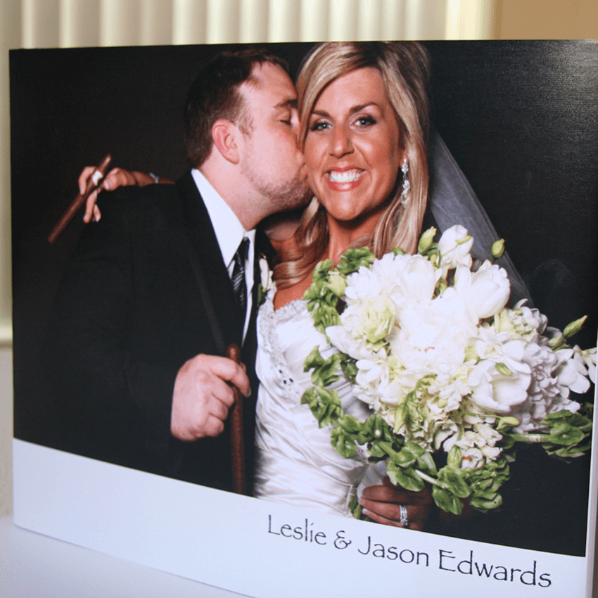 coffee table memory book cover with 1 large photo