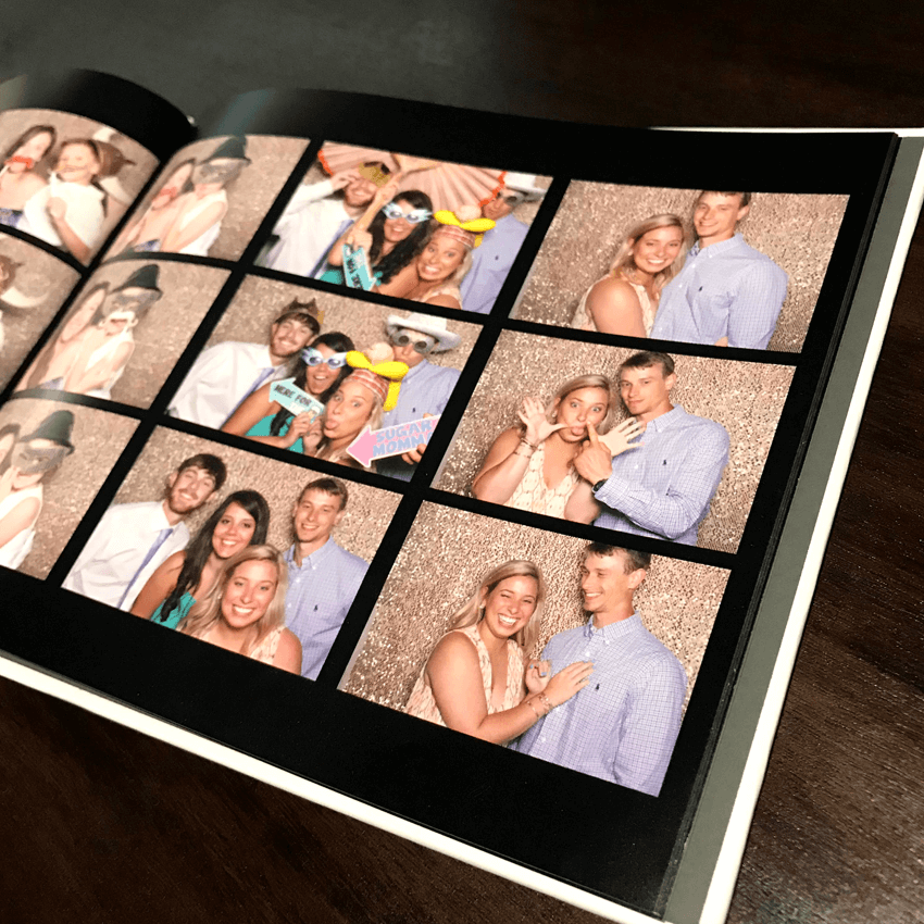 inside pages of the coffee table memory book