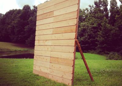 real wood rustic backdrop set up